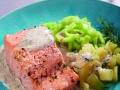 Krups Prep & Cook - Lachs auf Lauchgemuese mit Kartoffelwuerfeln, S.102