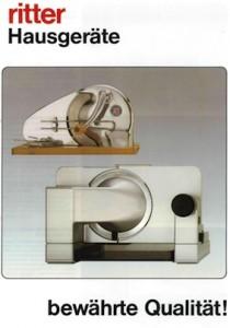 Ritter Produktkatalog Cover