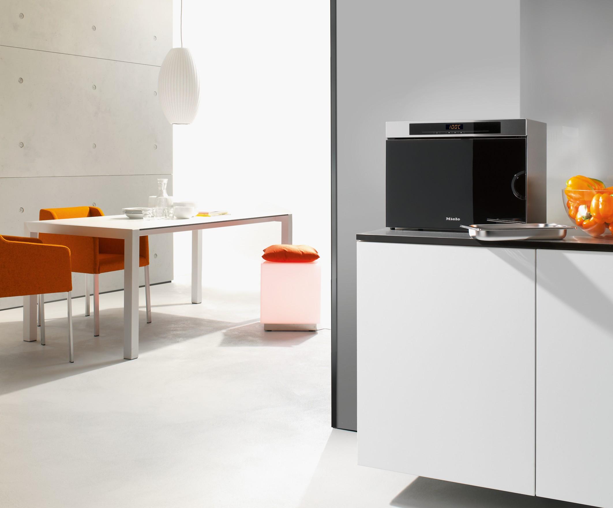 miele stellt vielseitigen dampfgarer dg 1450 vor der in jeder k che platz findet. Black Bedroom Furniture Sets. Home Design Ideas