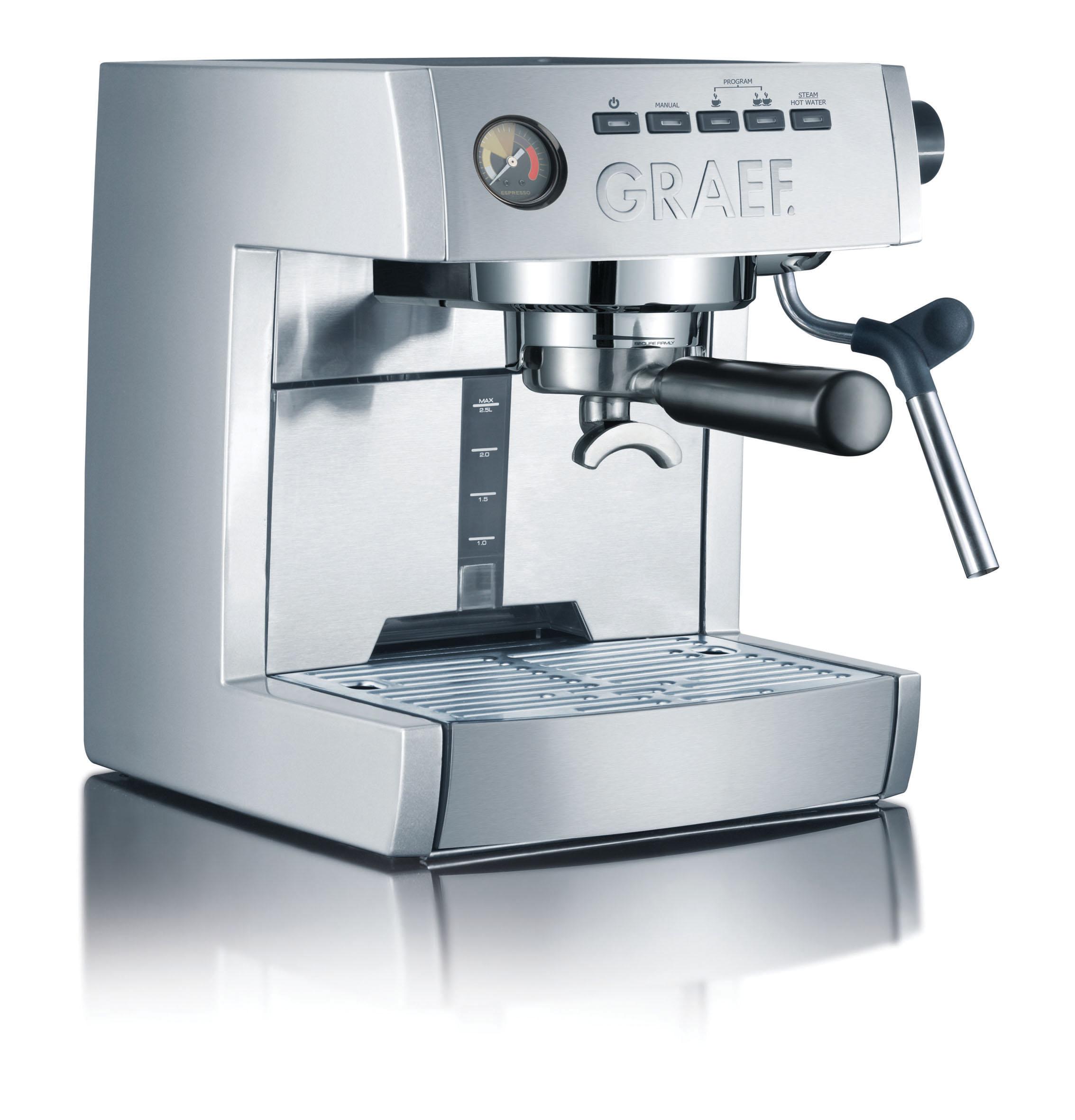 graef espressoautomat es85 silber und es86 wei professioneller espressogenuss auch f r zuhause. Black Bedroom Furniture Sets. Home Design Ideas