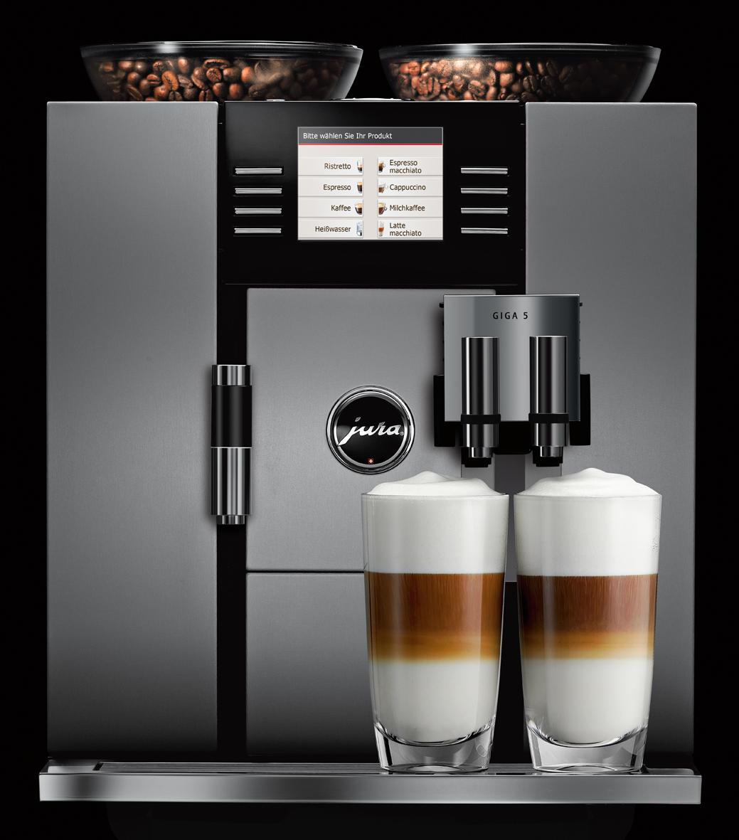 jura giga 5 kaffeevollautomat die super premium klasse. Black Bedroom Furniture Sets. Home Design Ideas