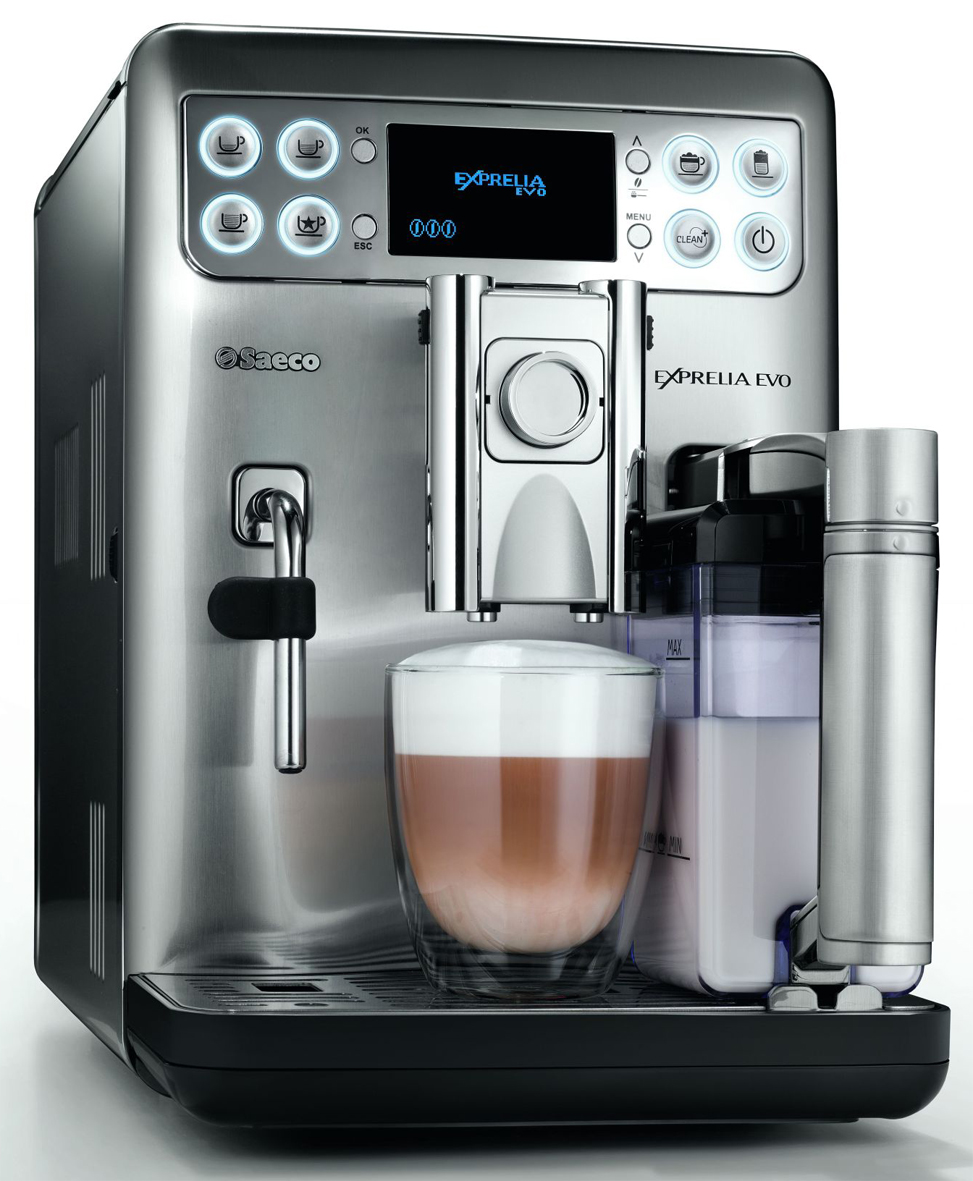 kaffeevollautomat philips saeco exprelia evo edelstahl mit. Black Bedroom Furniture Sets. Home Design Ideas