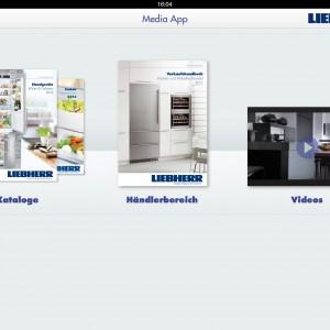 Die Liebherr Media App für die schnelle Suche. (Bild: Liebherr)