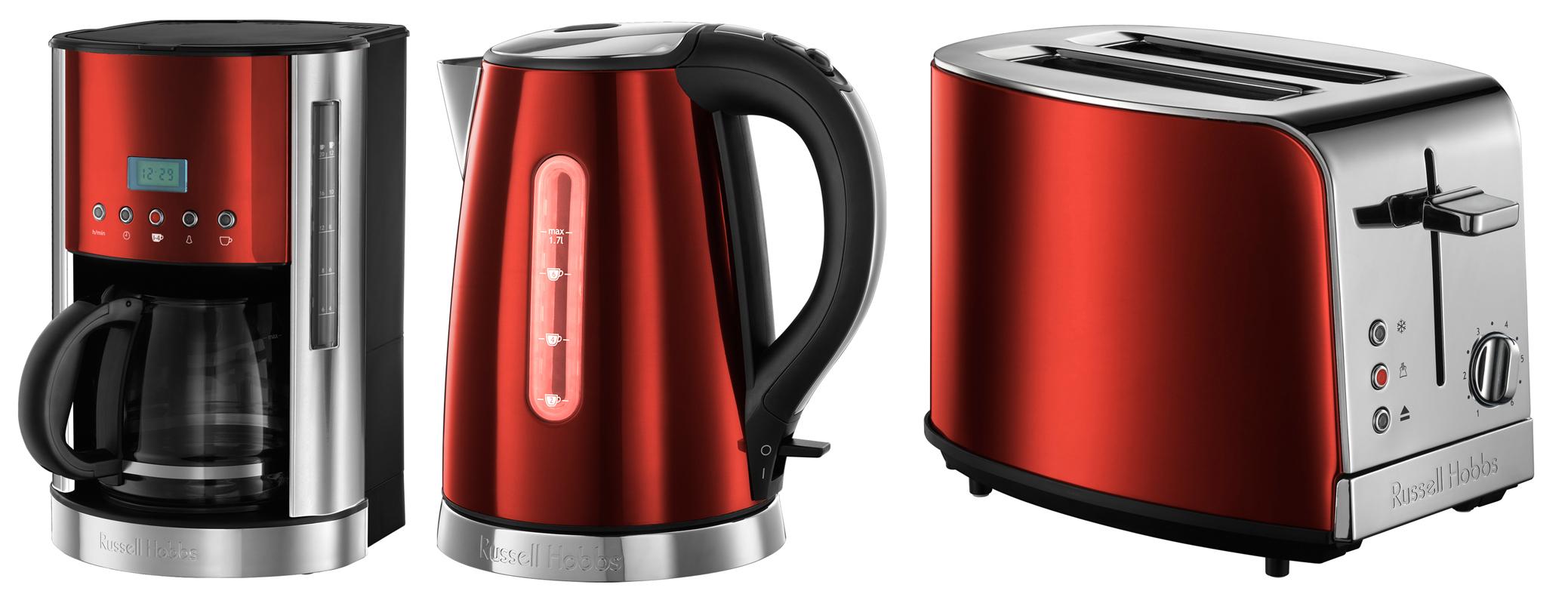 russell hobbs jewels fr hst cksserie mit kaffeemaschine wasserkocher toaster. Black Bedroom Furniture Sets. Home Design Ideas