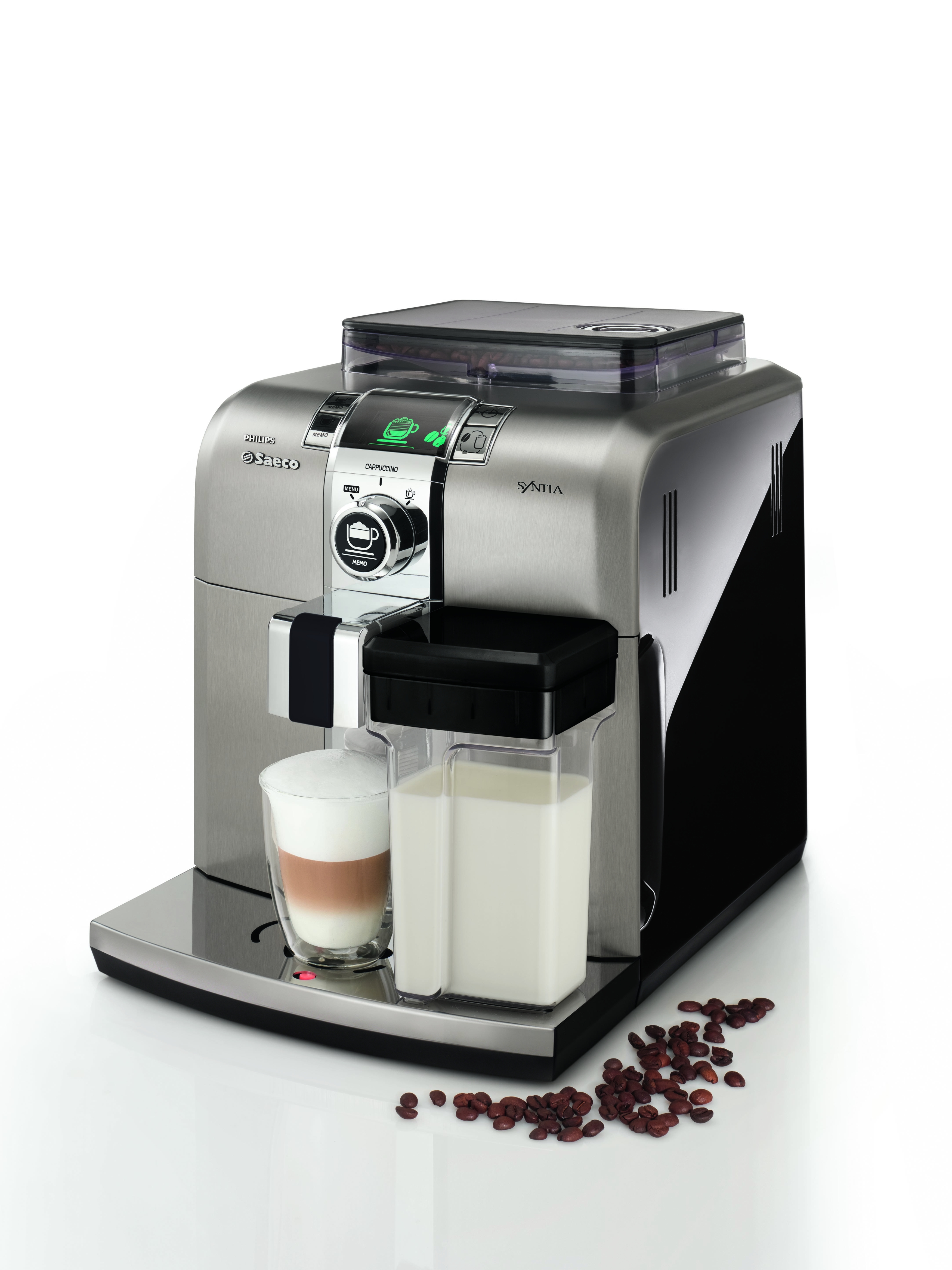 kaffeevollautomat philips saeco syntia cappuccino schwarz. Black Bedroom Furniture Sets. Home Design Ideas