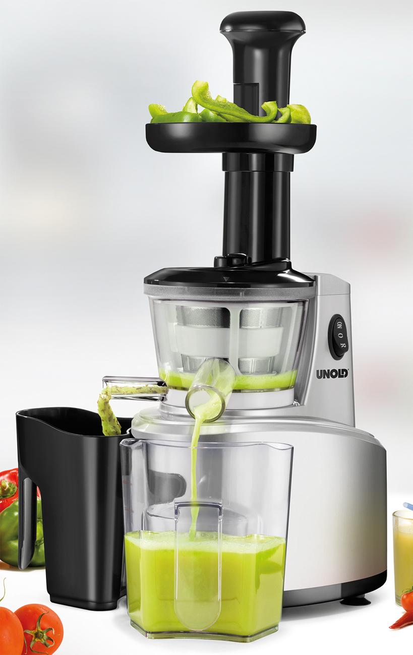Unold Slow Juicer Saftpresse – trennt Fruchtfleisch und Saft ~ Entsafter Unold