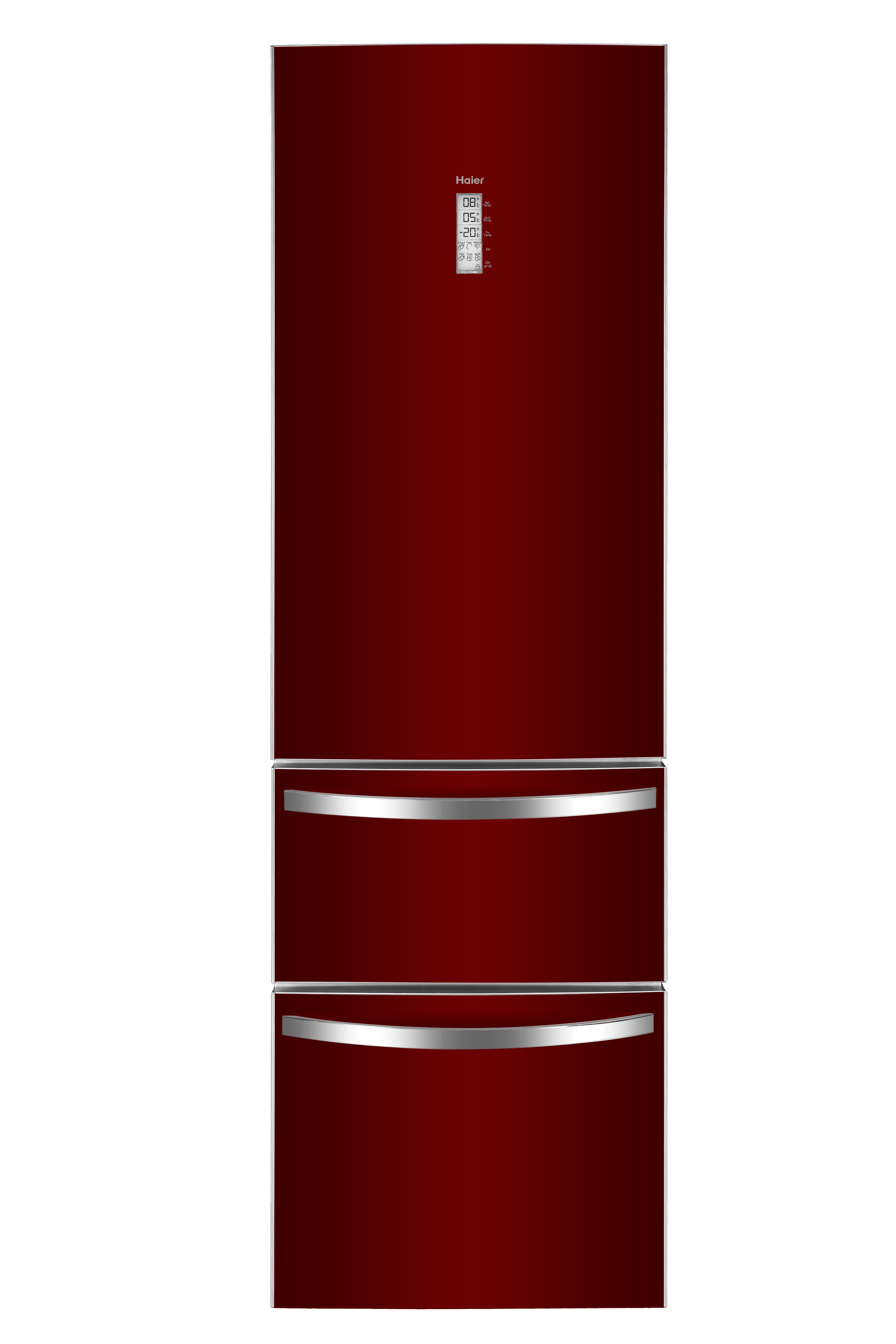 3d k hl gefrierkombinationen afd 631g von haier rot frontal frei 3d k hl gefrierkombination. Black Bedroom Furniture Sets. Home Design Ideas