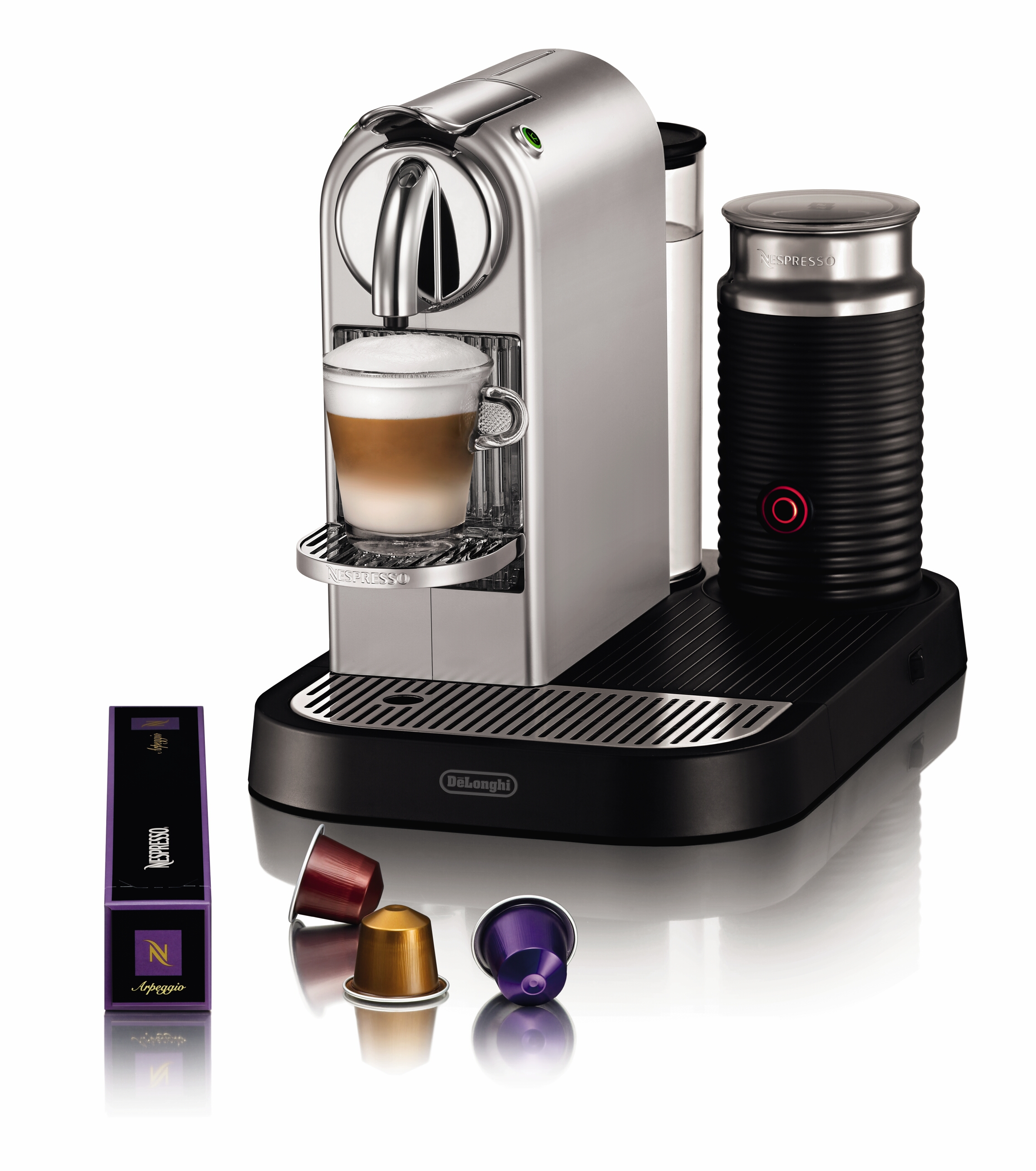 nespresso maschine citi z milk delonghi silverchrome nespresso pr sentiert neue modelle der. Black Bedroom Furniture Sets. Home Design Ideas