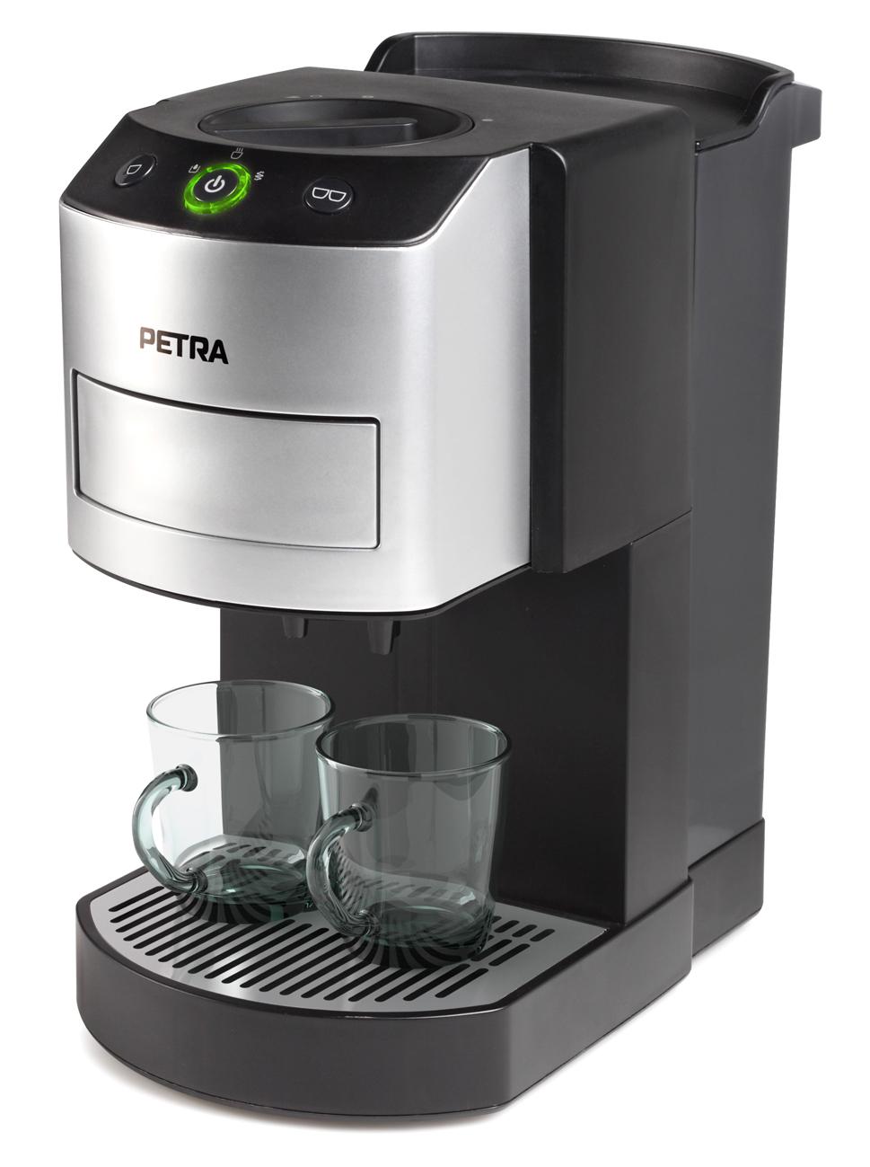 petra kaffee pad automat km bef llt zwei tassen gleichzeitig. Black Bedroom Furniture Sets. Home Design Ideas