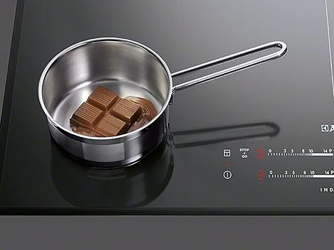 Für Pralines Schokolade per Induktion schmelzen
