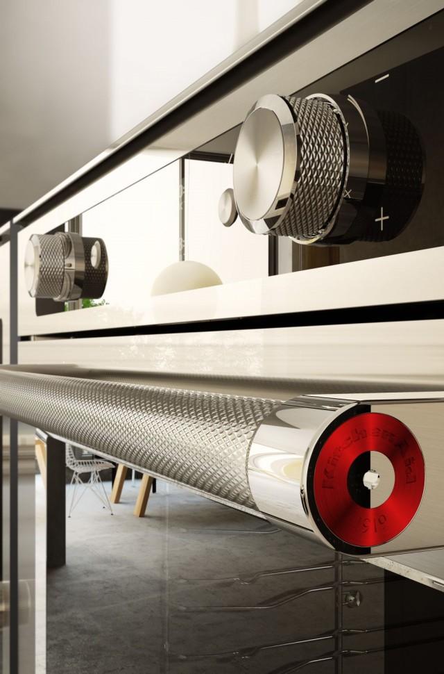 Das rote Medaillon am Griff verweist auf die Wurzeln des Hausgeräteherstellers KitchenAid. (Bild: KitchenAid)