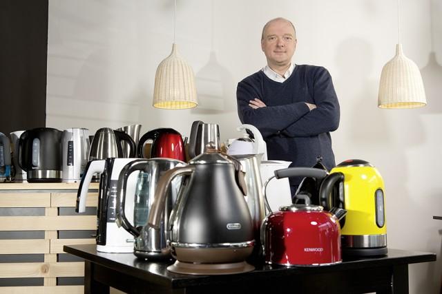 Wolfgang Pauler, CHIP, und die Wasserkocher . (Bild: CHIP)