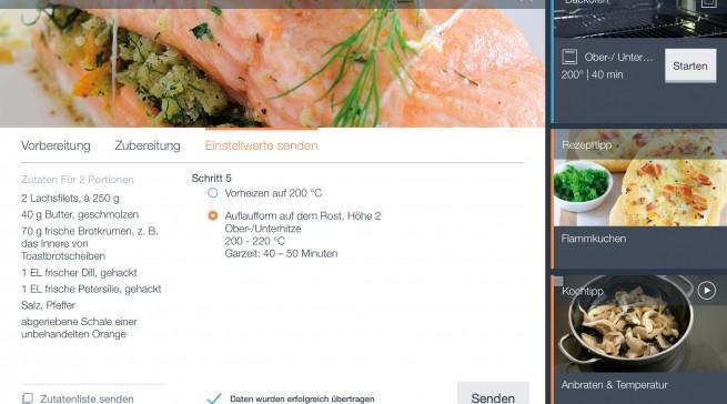 Backofen mit Mikrowelle_iPad_Rezept (Bild: AMK)