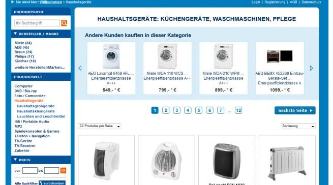 Euronics Screenshot Webseite