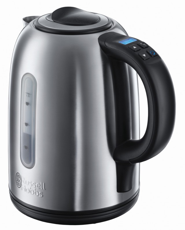 Russell Hobbs Buckingham Wasserkocher mit innovativer Quiet-Boil-Technologie.