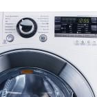 Im Eco-Programm 60 Grad der LG-Maschine wurden im Test nicht einmal 31 Grad gemessen.