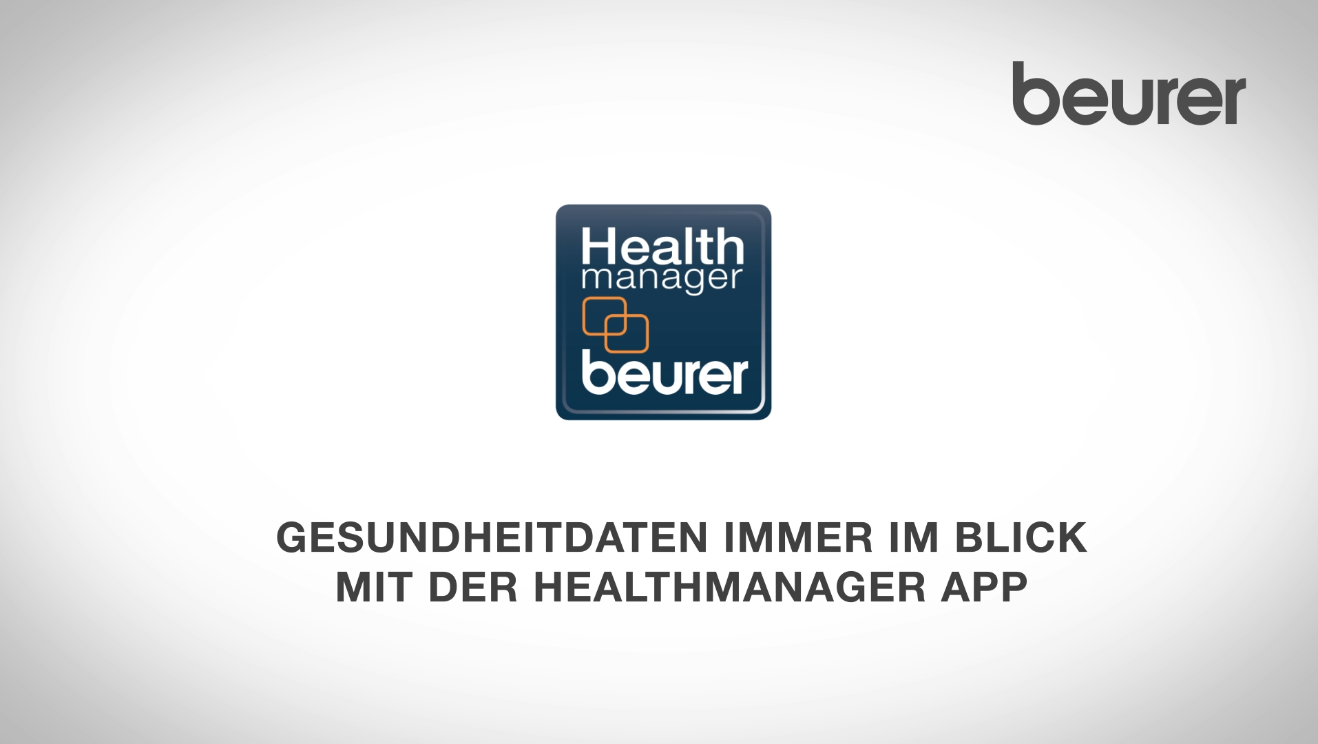 Beurer HealthManager – Video zum Gesundheitsmanagement