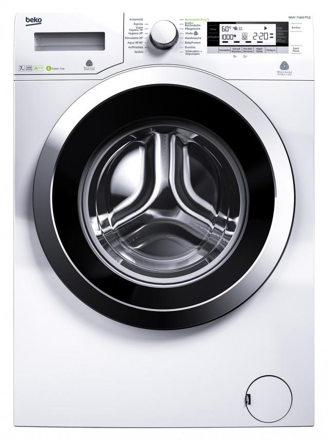 Beko Waschmaschine WMY 71643 PTLE mit Schleudergeschwindigkeit von bis zu 1.600 Umdrehungen.