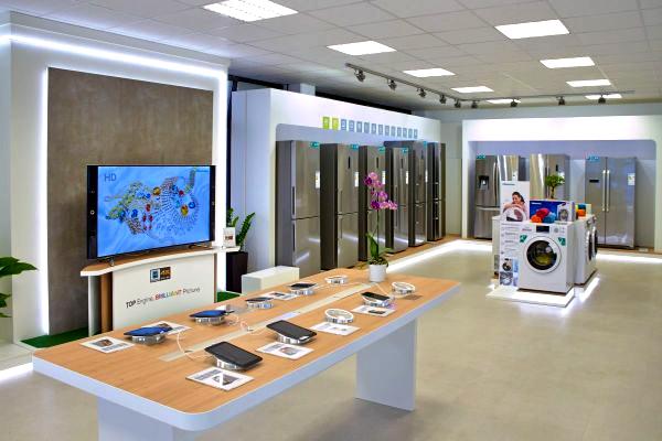 Der neue Showroom von Hisense