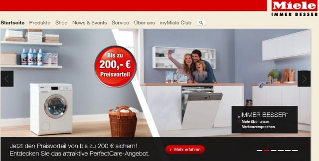 mit der aktion miele perfectcare bis zu 200 euro sparen. Black Bedroom Furniture Sets. Home Design Ideas