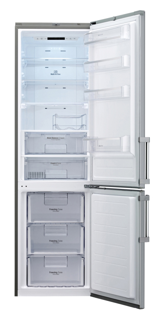 LG Kühl-/Gefrierkombination Bottom Freezer GBB530VMCQE mit Weinfach