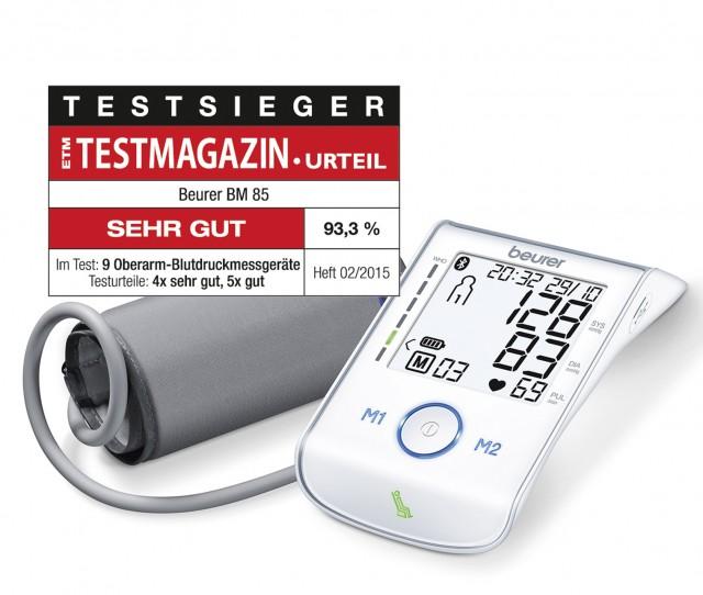 Blutdruckmessgeräts BM 85 von Beurer ausgezeichnet vom ETM Testmagazin