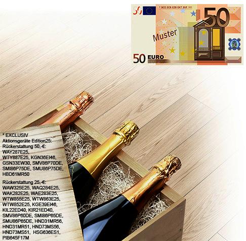"""Bis zu 50 € erstattet Bosch beim Kauf eines Gerätes der Jubiläumsaktion """"Edition25""""."""