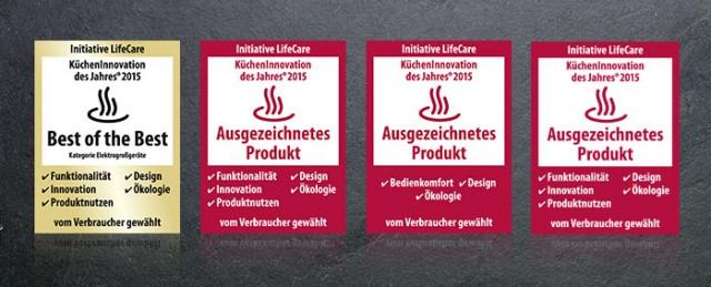 Bestnoten für Bauknecht beim Kücheninnovationspreis des Jahrgangs 2015.