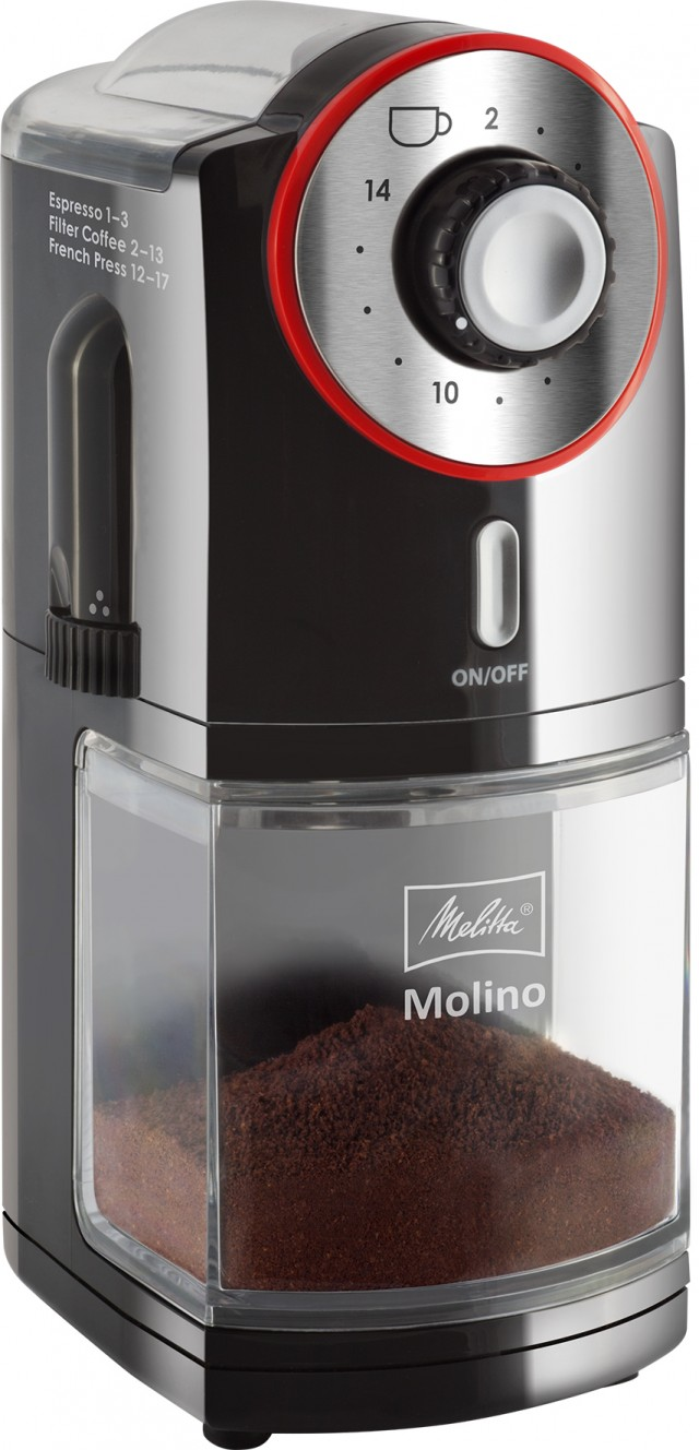 Melitta Kaffeemühle Molino mit 17 Mahlgradstufen