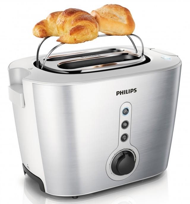 Der Philips Toaster HD2636/00 ist ein Zweischlitz-Toaster.