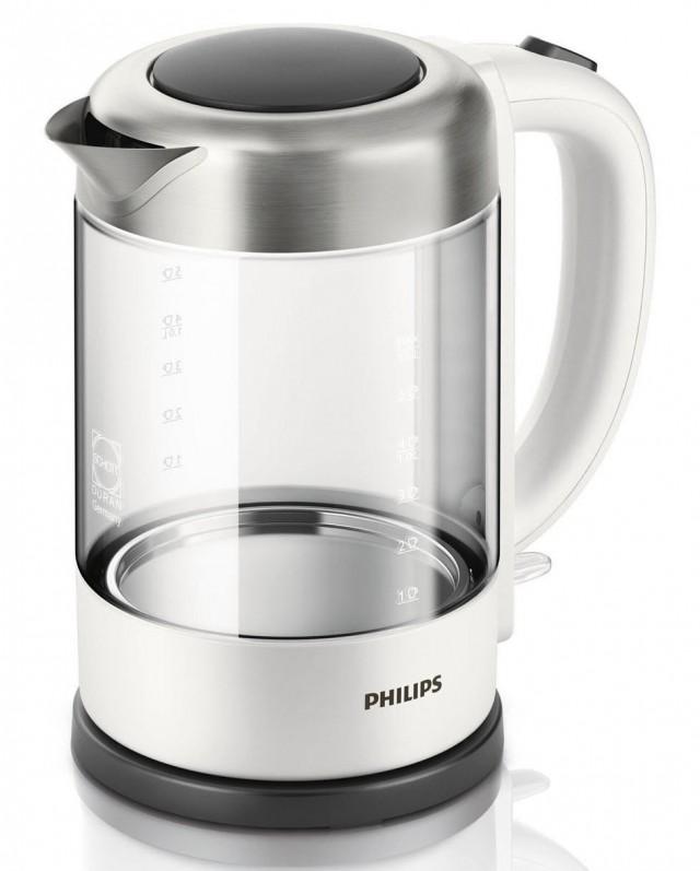 Philips Wasserkocher HD9340/00 mit 1,5 Liter Fasssungsvermögen.