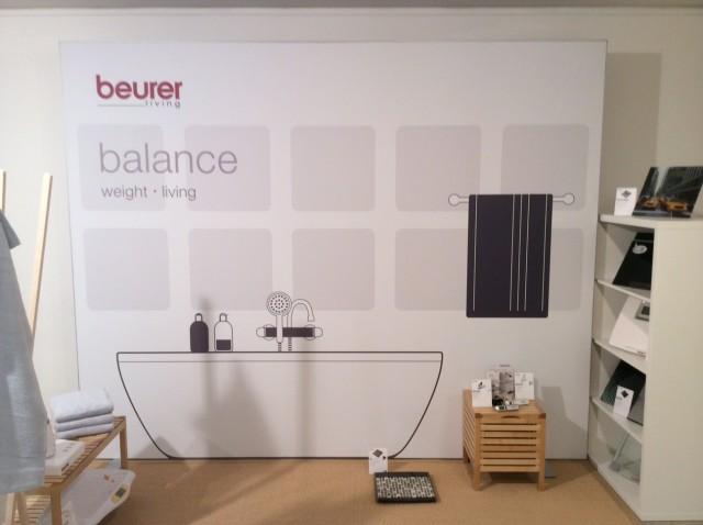"""Im Rahmen des """"Open House 2015"""" setzt Beurer seine Produkte wirkungsvoll in Szene."""