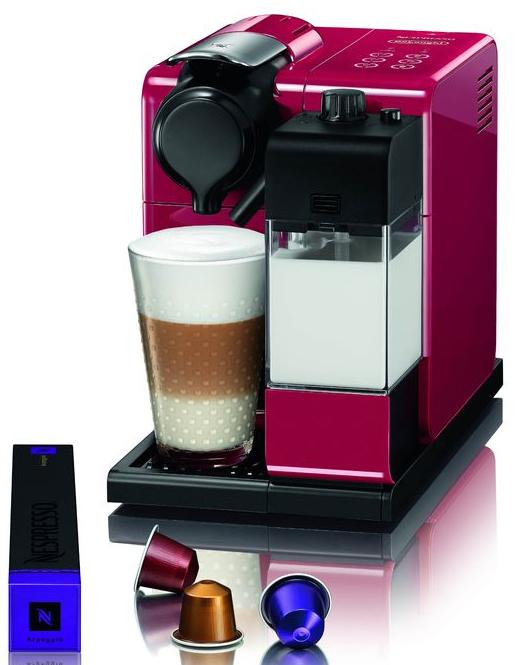 Nespresso Kaffeemaschine Lattissima Touch bereitet 6 Kaffeespezialitäten auf Knopfdruck.