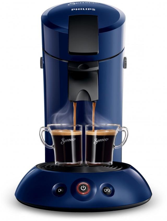 Philips Kaffeemaschine Senseo Original HD7817 brüht 1 oder 2 Tassen auf Knopfdruck.