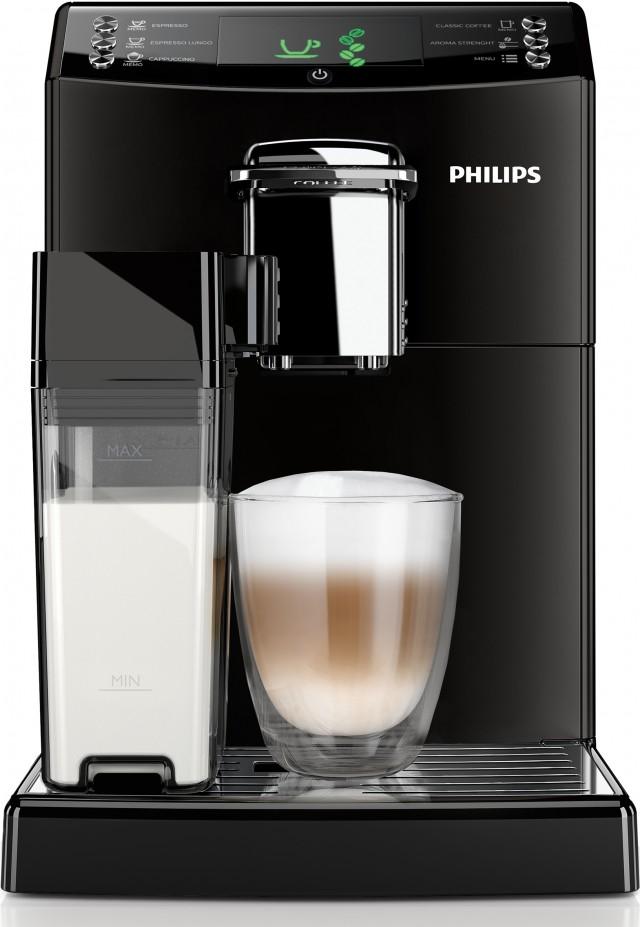 Philips Kaffeemaschine Serie 4000 HD8847/01 mit Karaffe zum Milchaufschäumen.