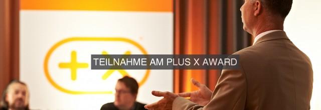 Teilnahme Plus-X-Award 2015