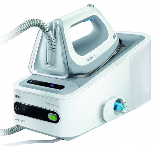 Braun Dampfbügelstation CareStyle 5 mit iCare-Technologie.