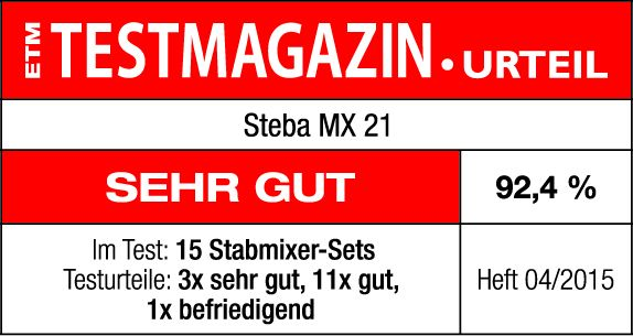 Steba Stabmixer MX 21 erhielt sehr gut