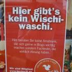 Hier gehen Profis ihrer Arbeit nach, keine Amateure mit Wischwaschi.