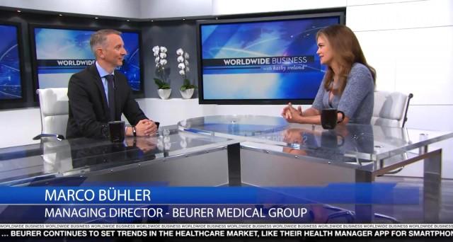 In einer renommierten US-TV-Sendung konnte Marco Bühler, geschäftsführender Gesellschafter Beurer, die Produkte seines Hauses umfangreich präsentieren.