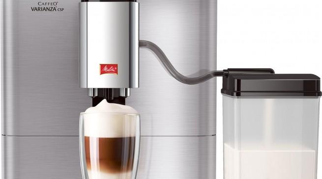 Modernes Design, durchdachte Technik: Melitta hat die Caffeo Varianza CSP wieder mit im Gepäck.