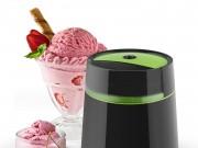 Die Klarstein Bacio Nero Eismaschine in Schwarz-Grün