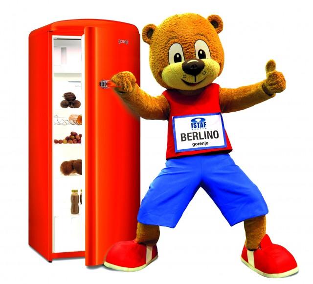 Mitten unter der sportlichen Weltelite: Gorenje mit stylischen Kühlschränken.