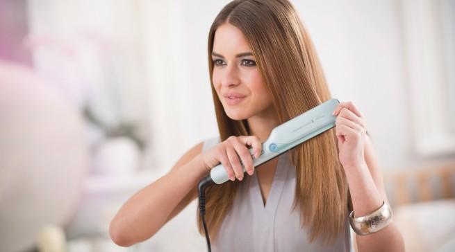 S8700 PROtect Haarglätter von Remington: Die HydraCare-Technologie sorgt für die Balance zwischen Feuchtigkeit und Hitze.