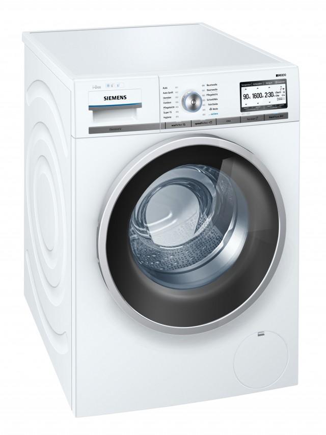 Siemens Waschmaschine iQ800 WM6YH840 mit HomeConnect App.