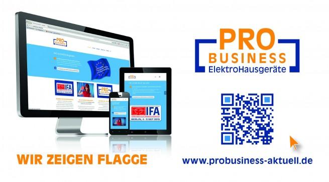 Optimiert für alle digitalen Kommunikationswege zeigt Pro Business ab der IFA Flagge.