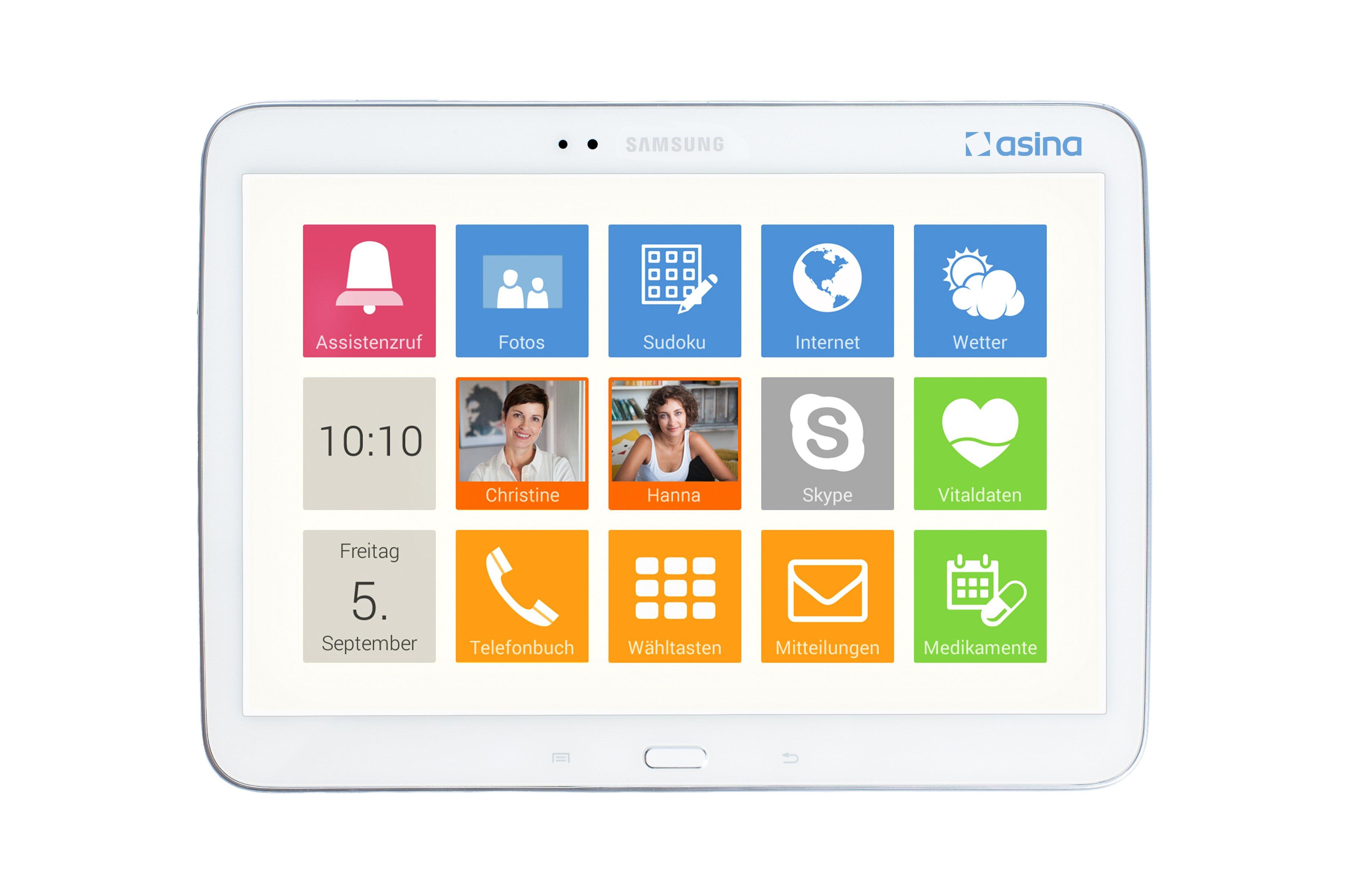 Ein Gefühl von Smart Home für Senioren will die asina Software auf Android-Tablets vermitteln.