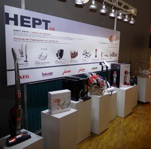 Erfolgsfaktoren der HEPT: Intensiver Dialog zwischen Industrie und Handel sowie die Neuheiten für das Frühjahr.Und es winken attraktive Gewinne.