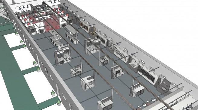 Die Produktschau auf Gut Böckel wird von der Miele-Innenarchitektur regelrecht inszeniert.