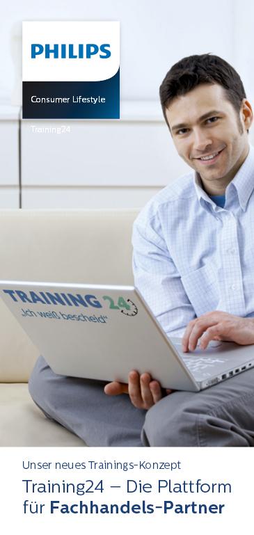 24 Stunden geöffnet: Das Info- und Trainingsportal von Philips.